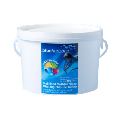 Blue Horizons Multi-Function 20g Mini Chlorine Tablets 2.5kg